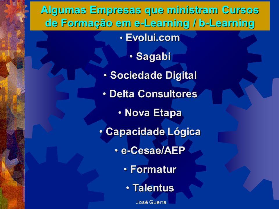 Algumas Empresas que ministram Cursos de Formação em e-Learning / b-Learning