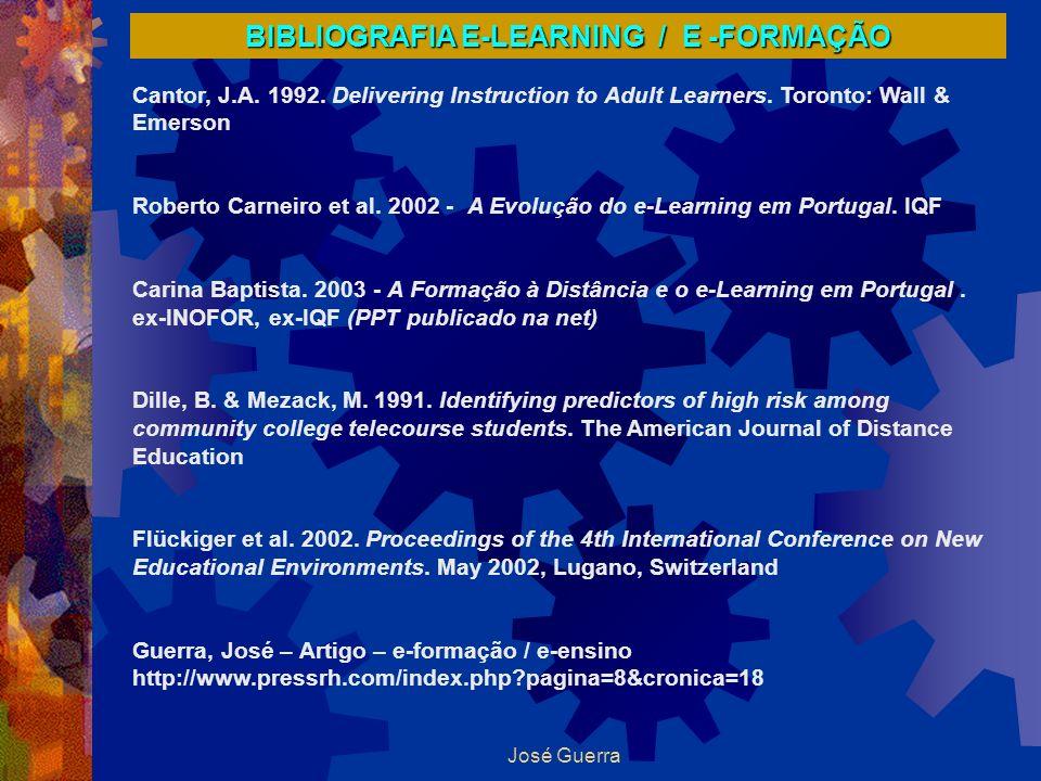 BIBLIOGRAFIA E-LEARNING / E -FORMAÇÃO