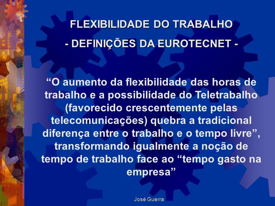 FLEXIBILIDADE DO TRABALHO - DEFINIÇÕES DA EUROTECNET -