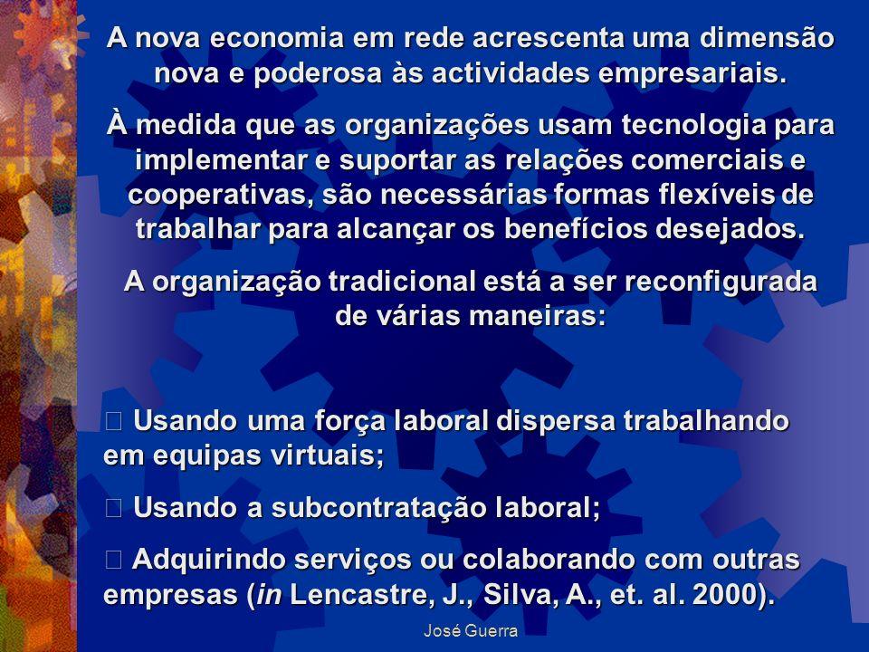 A organização tradicional está a ser reconfigurada de várias maneiras:
