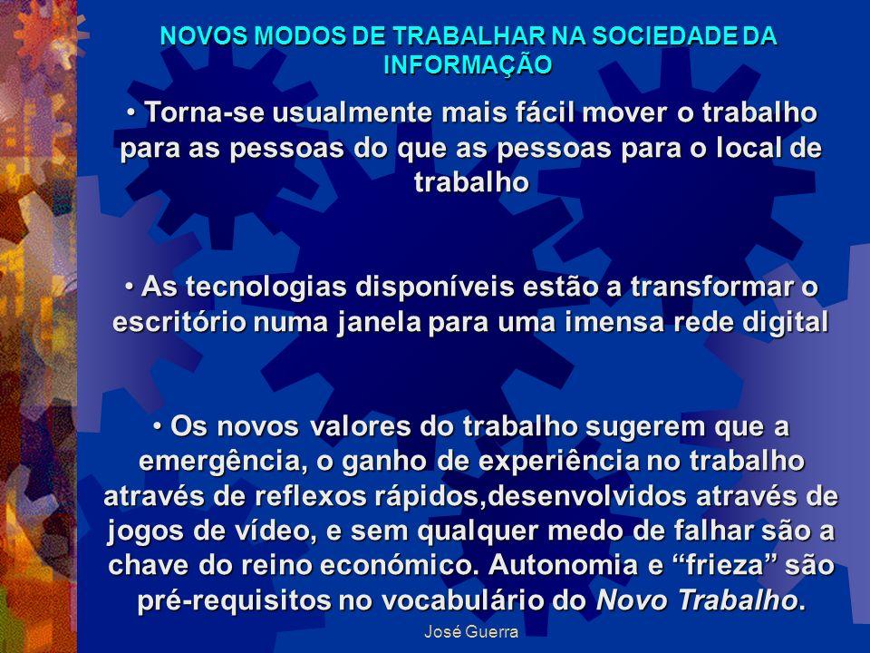 NOVOS MODOS DE TRABALHAR NA SOCIEDADE DA INFORMAÇÃO