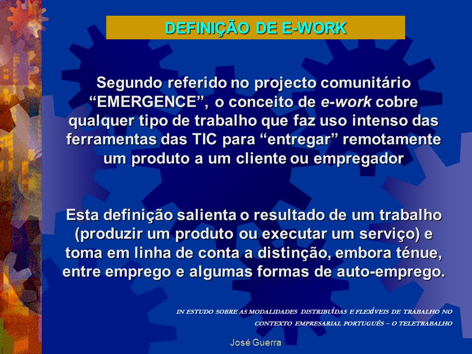 DEFINIÇÃO DE E-WORK