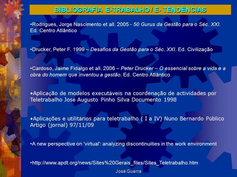 BIBLIOGRAFIA E-TRABALHO / E- TENDÊNCIAS