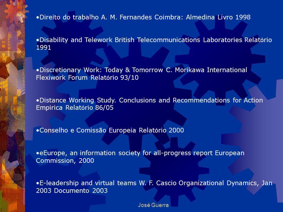 Direito do trabalho A. M. Fernandes Coimbra: Almedina Livro 1998