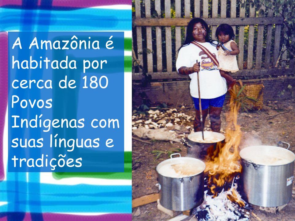 A Amazônia é habitada por cerca de 180 Povos Indígenas com suas línguas e tradições