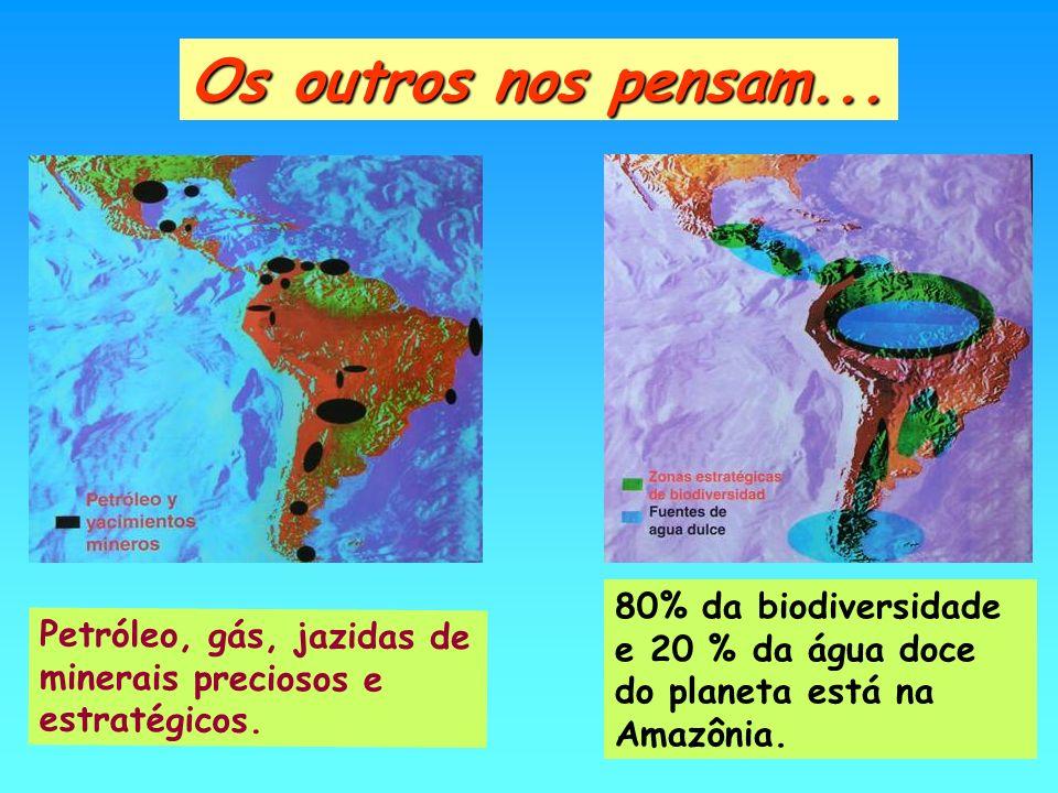 Os outros nos pensam... 80% da biodiversidade e 20 % da água doce do planeta está na Amazônia.