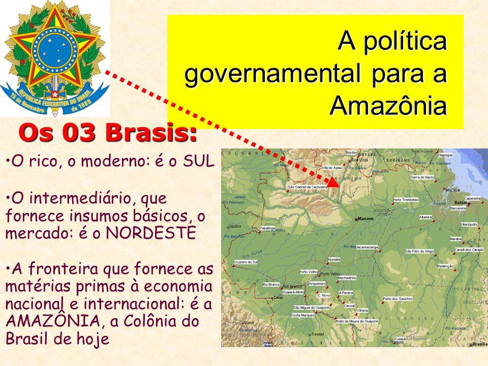 A política governamental para a Amazônia