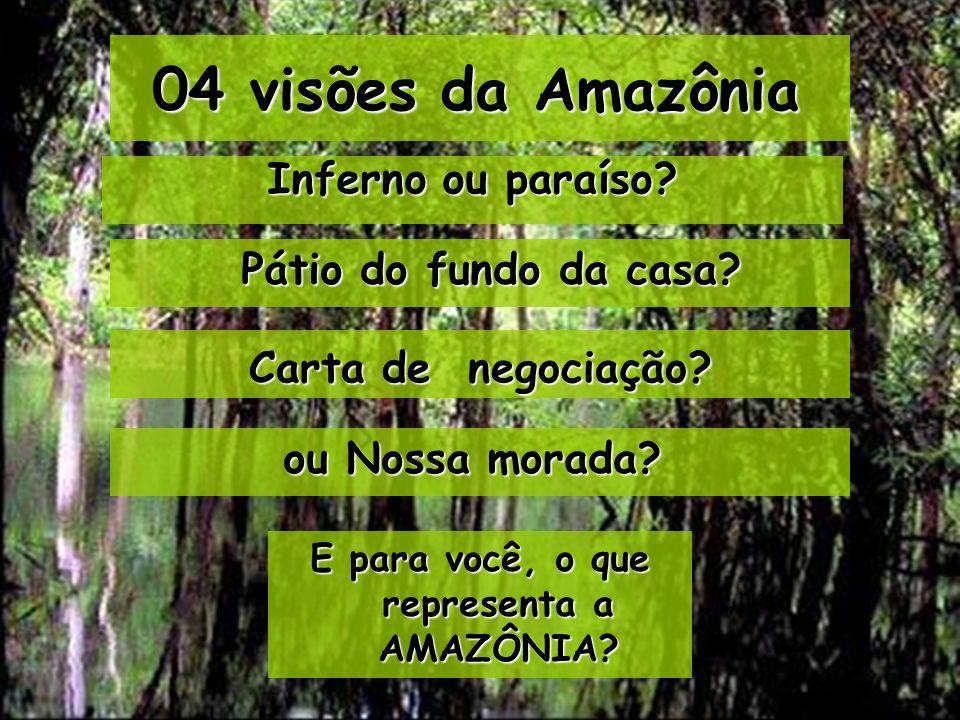 E para você, o que representa a AMAZÔNIA