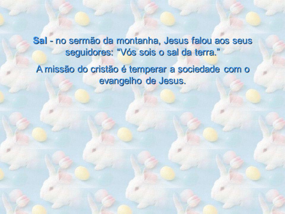 A missão do cristão é temperar a sociedade com o evangelho de Jesus.