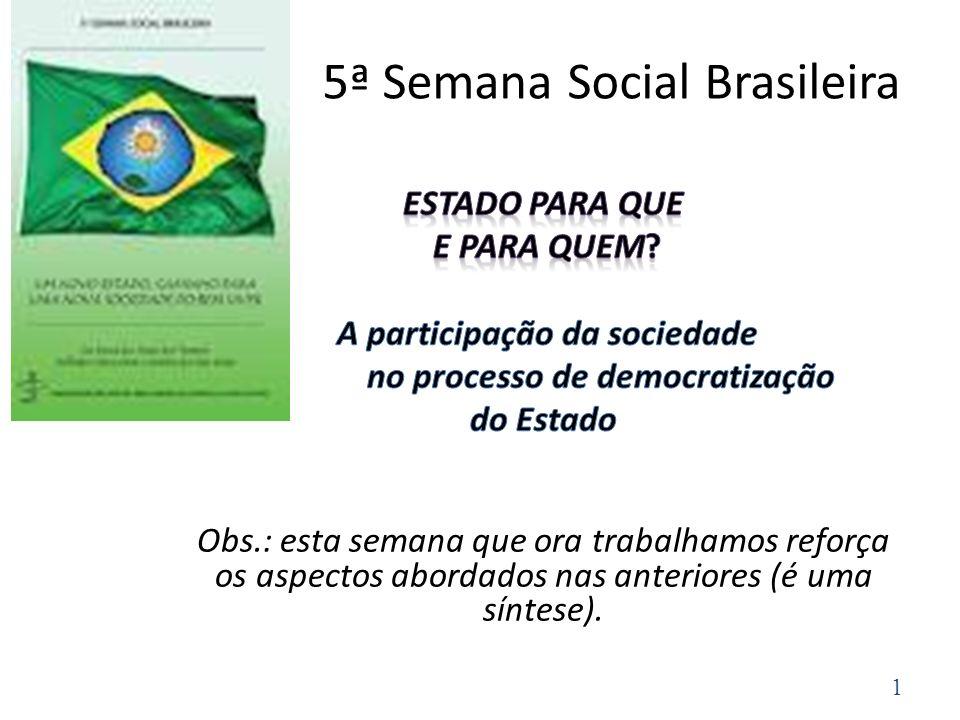 5ª Semana Social Brasileira