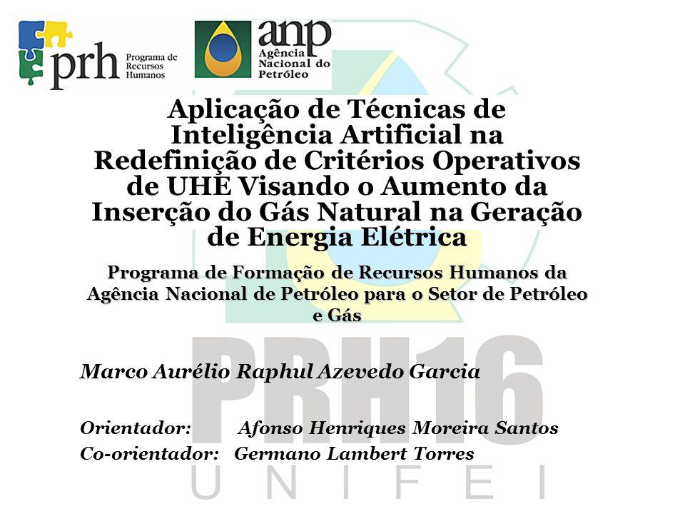 Aplicação de Técnicas de Inteligência Artificial na Redefinição de Critérios Operativos de UHE Visando o Aumento da Inserção do Gás Natural na Geração de Energia Elétrica