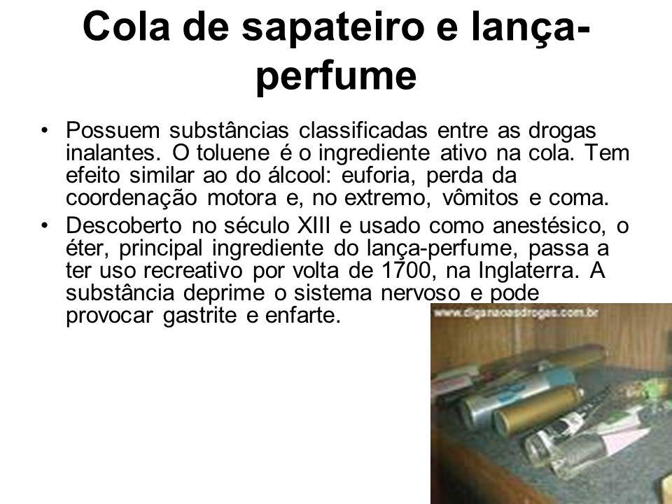 Cola de sapateiro e lança-perfume