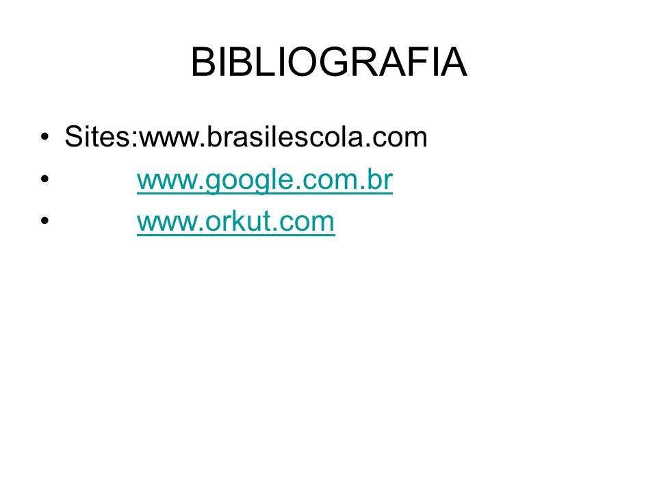 BIBLIOGRAFIA Sites:www.brasilescola.com www.google.com.br