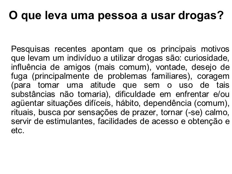 O que leva uma pessoa a usar drogas