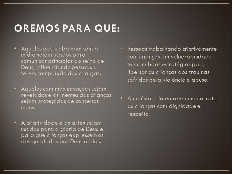OREMOS PARA QUE: