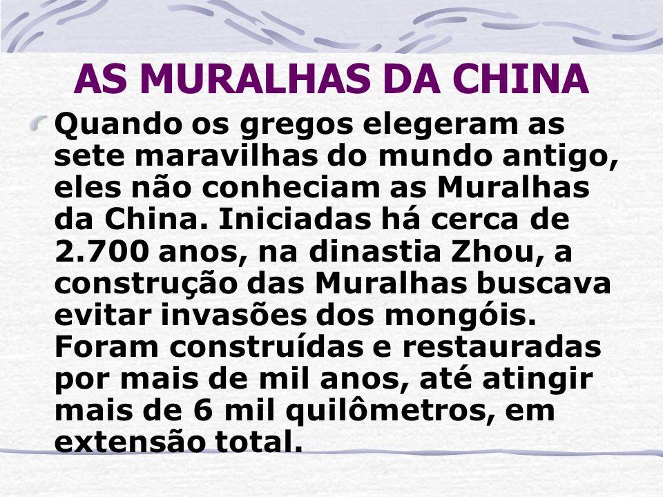 AS MURALHAS DA CHINA