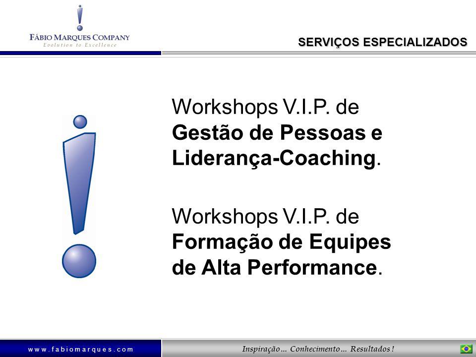 Workshops V.I.P. de Gestão de Pessoas e Liderança-Coaching.