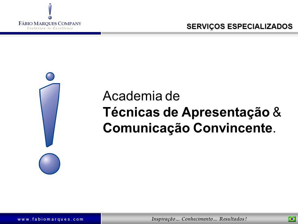 Academia de Técnicas de Apresentação & Comunicação Convincente.