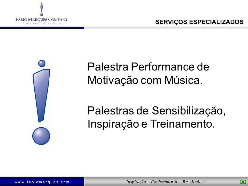 Palestra Performance de Motivação com Música.