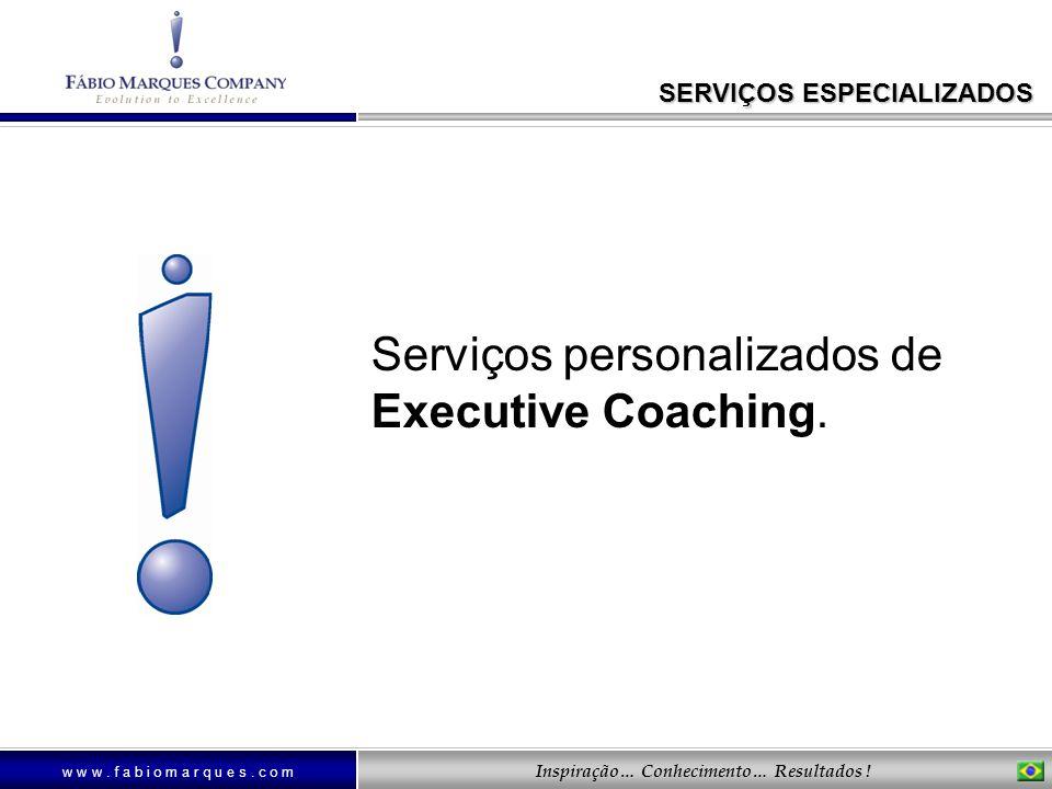 Serviços personalizados de Executive Coaching.