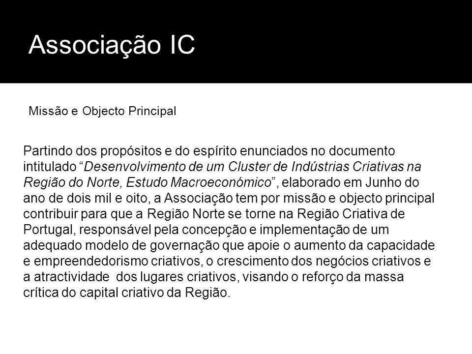 Associação ICMissão e Objecto Principal.