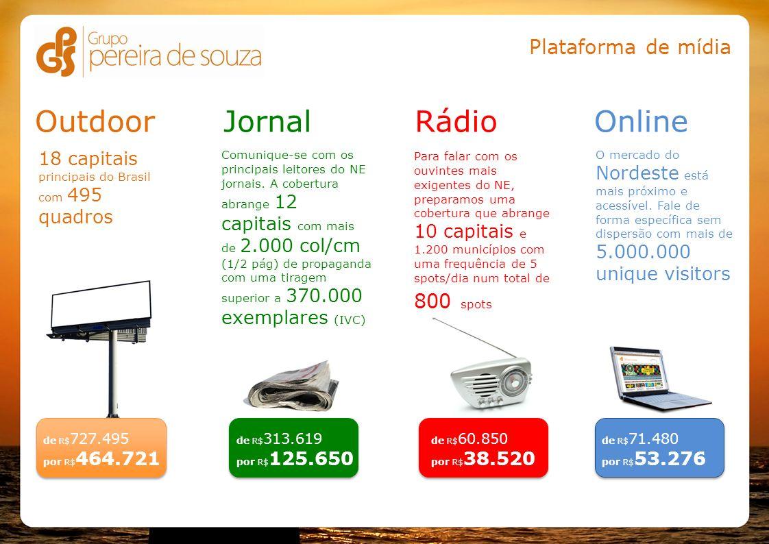 Outdoor Jornal Rádio Online Plataforma de mídia