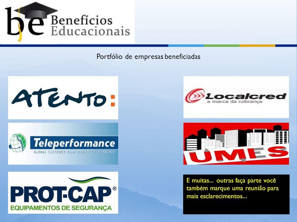 Portfólio de empresas beneficiadas