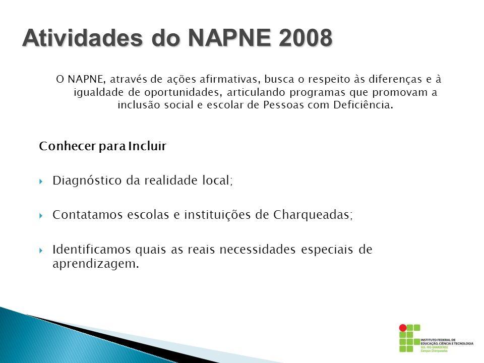 Atividades do NAPNE 2008 Conhecer para Incluir
