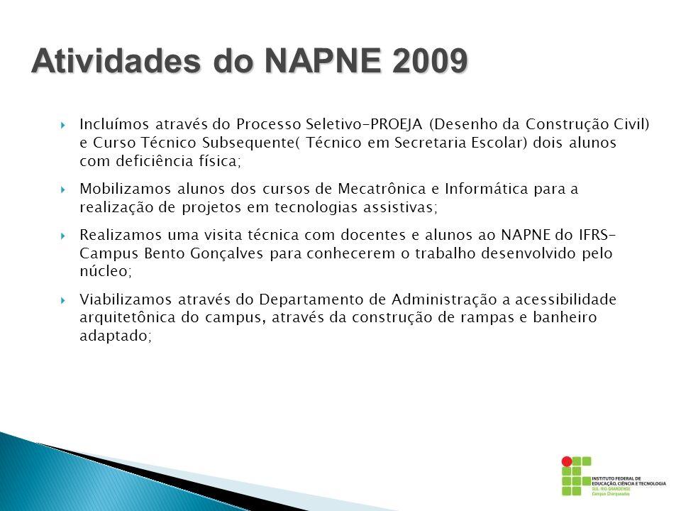 Atividades do NAPNE 2009