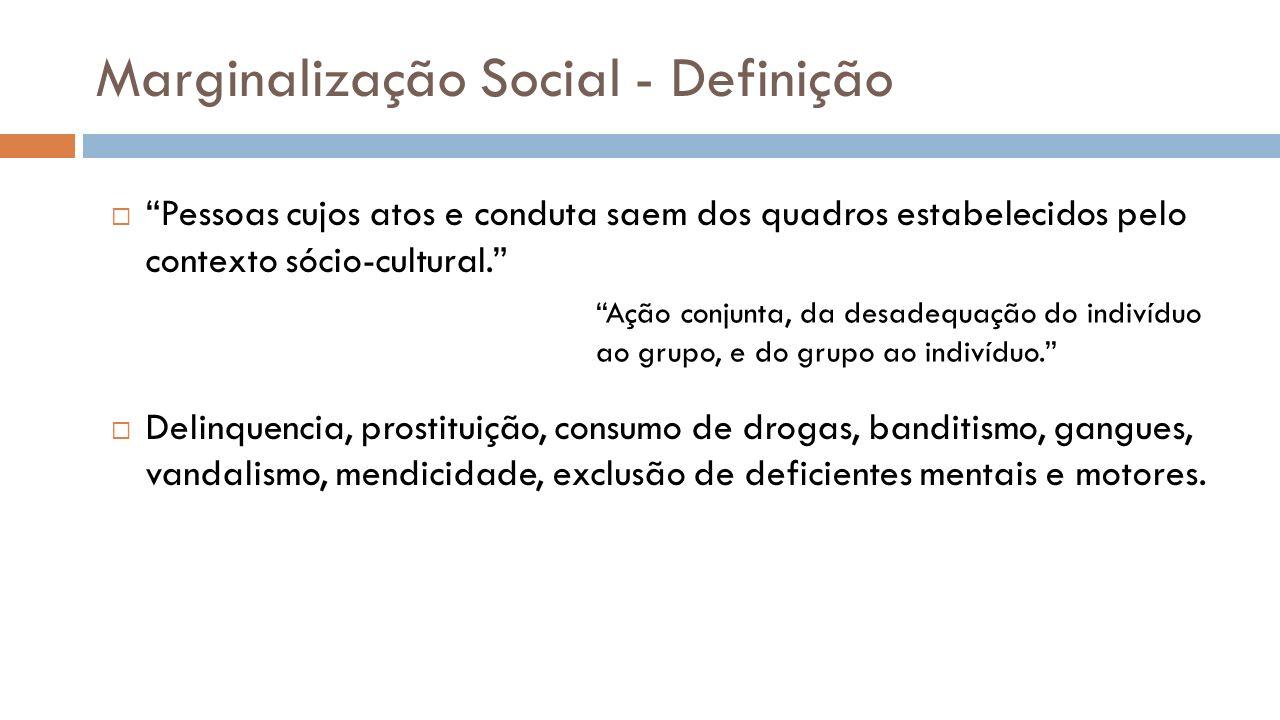 Marginalização Social - Definição