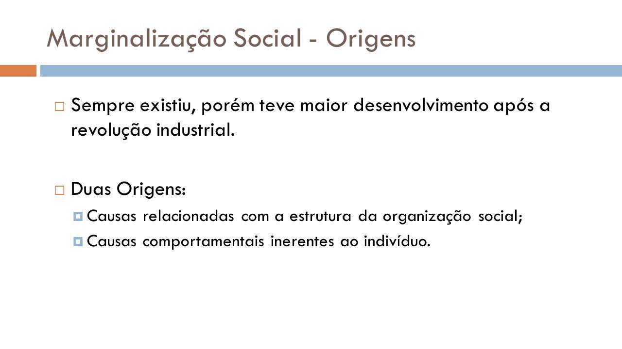 Marginalização Social - Origens