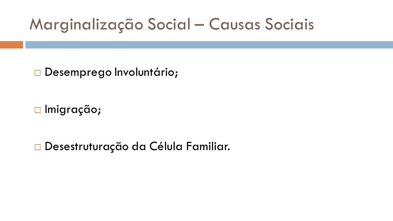 Marginalização Social – Causas Sociais