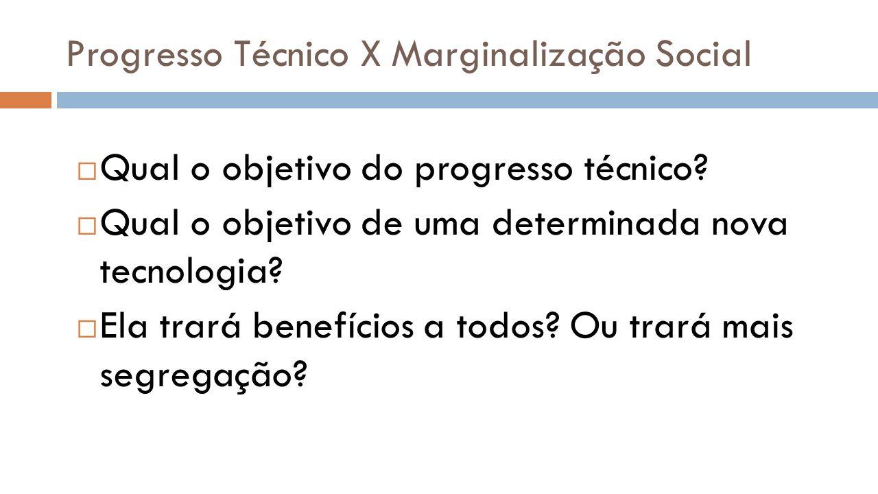 Progresso Técnico X Marginalização Social