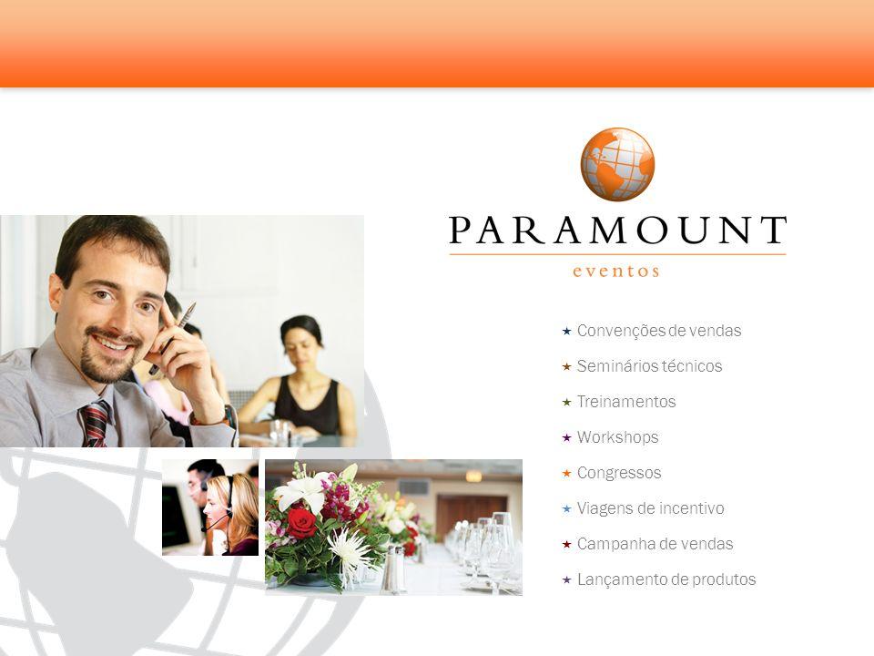Convenções de vendas Seminários técnicos. Treinamentos. Workshops. Congressos. Viagens de incentivo.