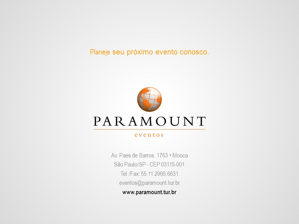 Av. Paes de Barros, 1763 • Mooca São Paulo/SP - CEP 03115-001
