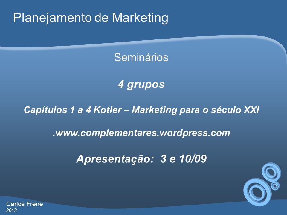Capítulos 1 a 4 Kotler – Marketing para o século XXI