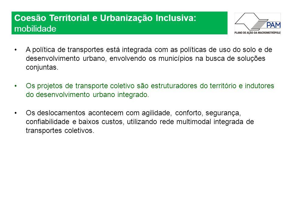 Coesão Territorial e Urbanização Inclusiva: mobilidade