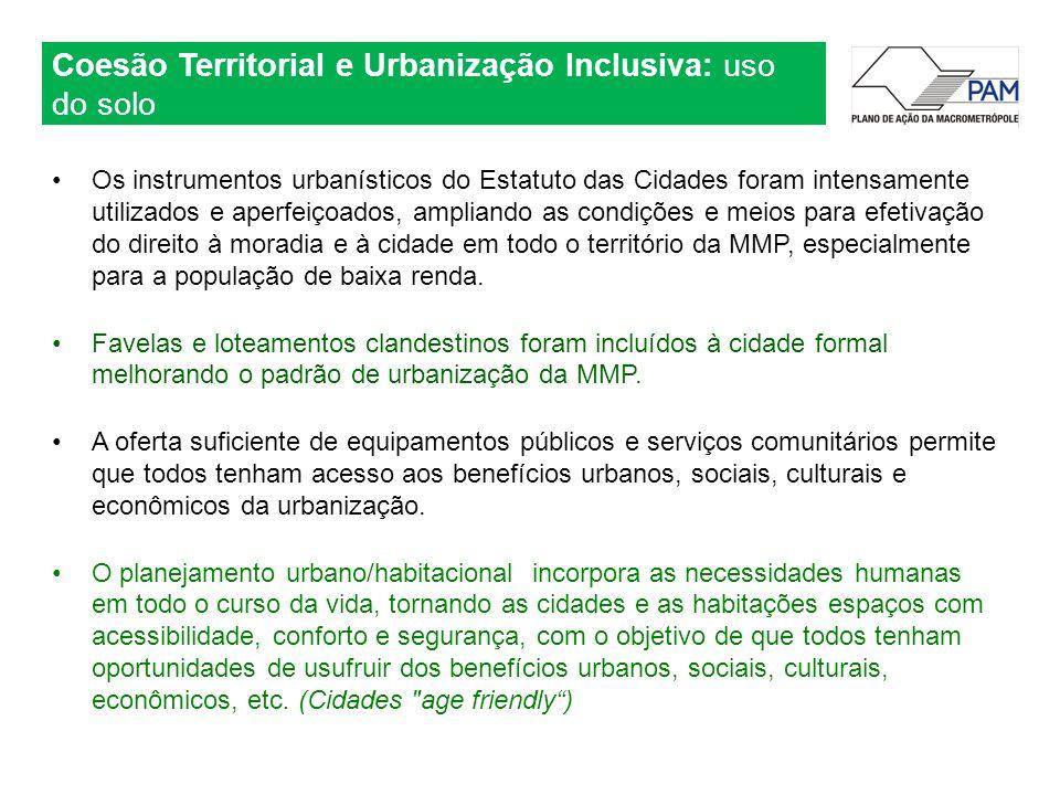 Coesão Territorial e Urbanização Inclusiva: uso do solo