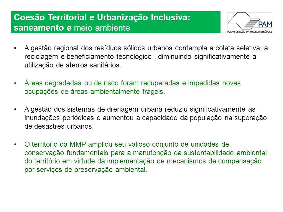 Coesão Territorial e Urbanização Inclusiva: saneamento e meio ambiente