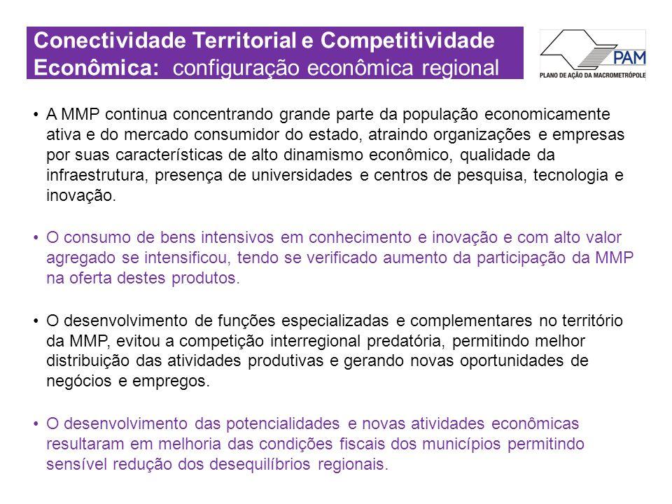 Conectividade Territorial e Competitividade Econômica: configuração econômica regional