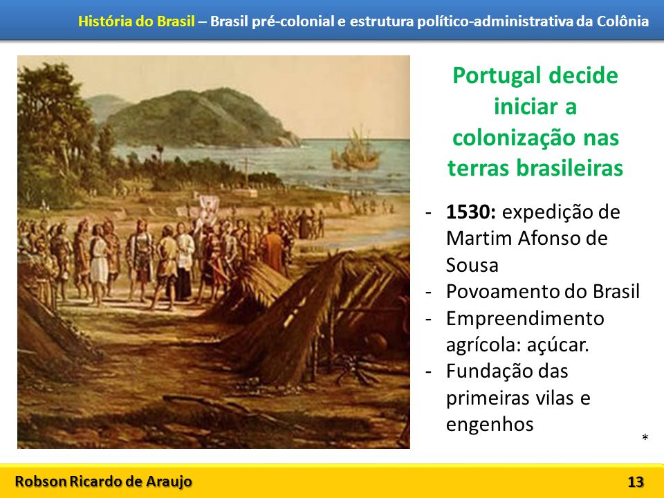 Portugal decide iniciar a colonização nas terras brasileiras