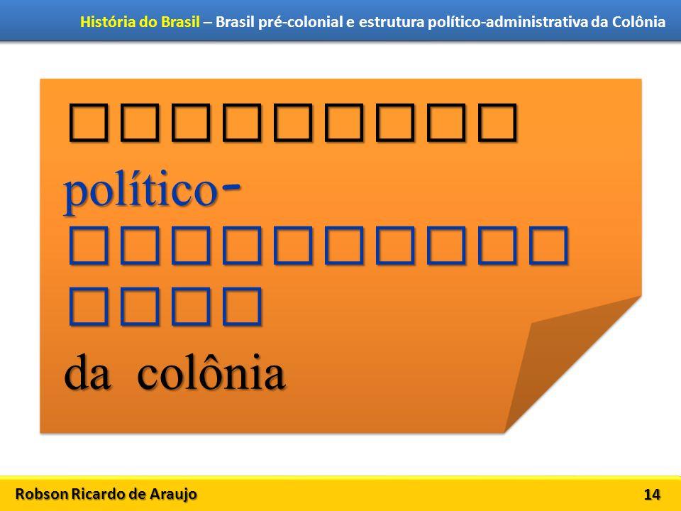 Estrutura político-administrativa da colônia