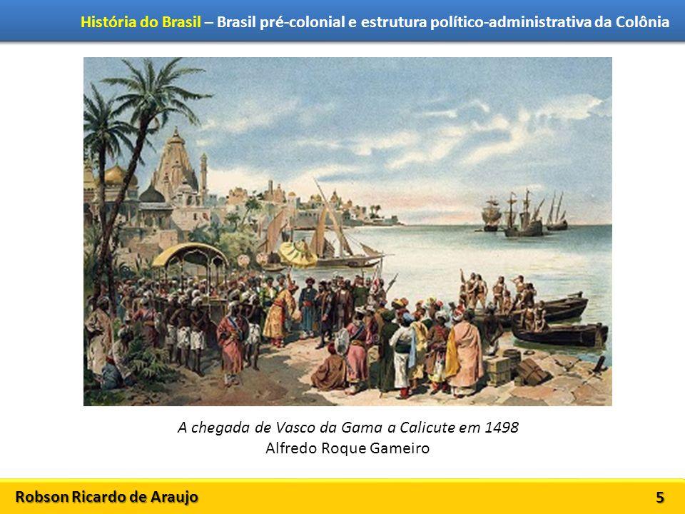 A chegada de Vasco da Gama a Calicute em 1498