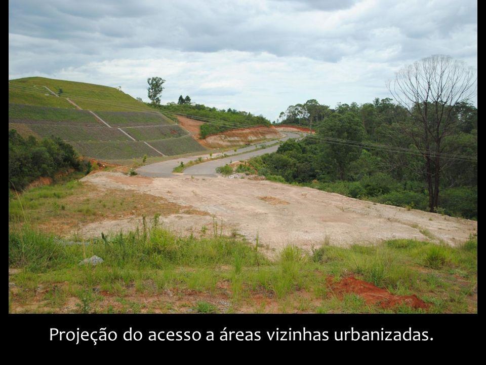Projeção do acesso a áreas vizinhas urbanizadas.