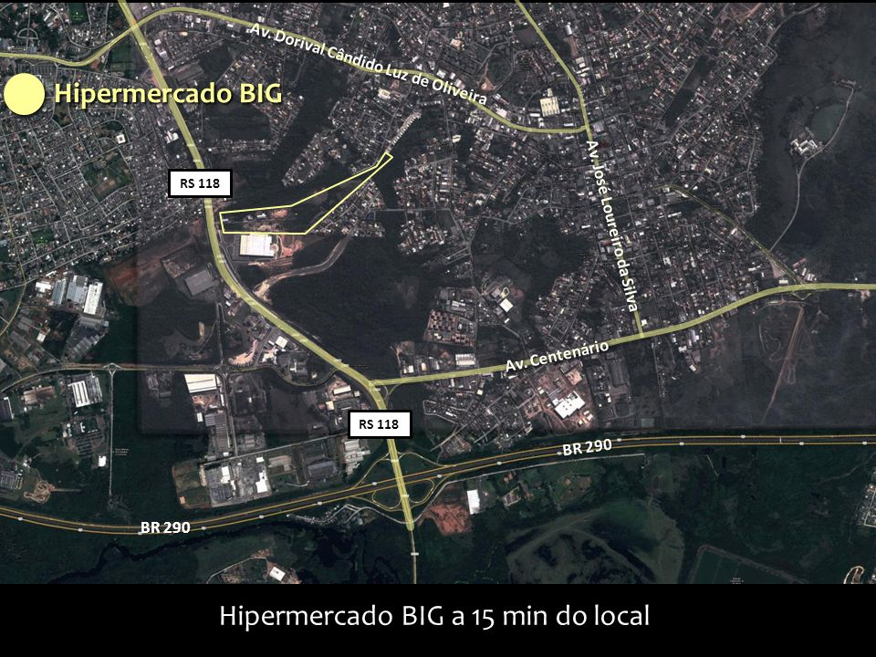 Hipermercado BIG a 15 min do local
