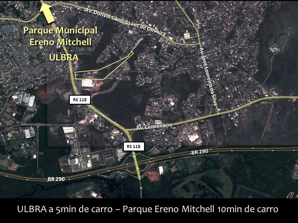 ULBRA a 5min de carro – Parque Ereno Mitchell 10min de carro