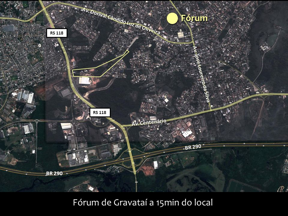 Fórum de Gravataí a 15min do local
