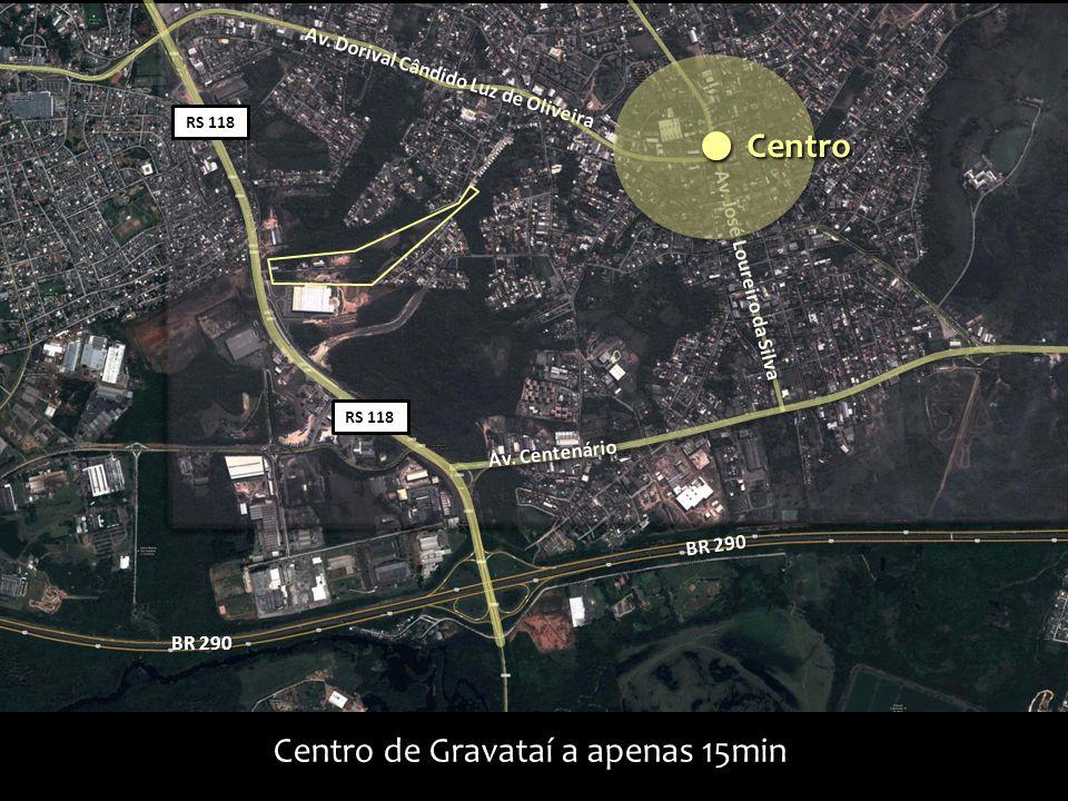 Centro de Gravataí a apenas 15min