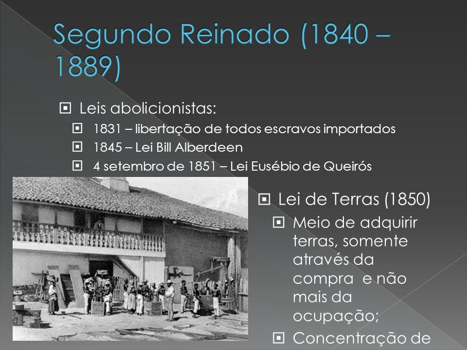 Segundo Reinado (1840 – 1889) Lei de Terras (1850)
