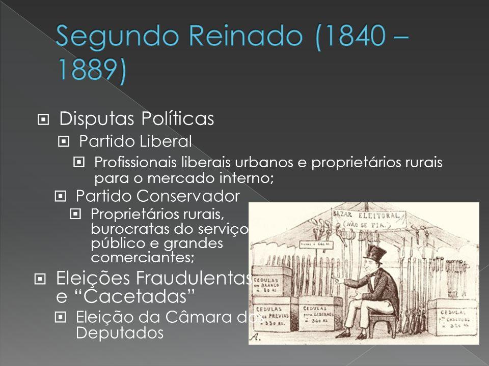 Segundo Reinado (1840 – 1889) Disputas Políticas